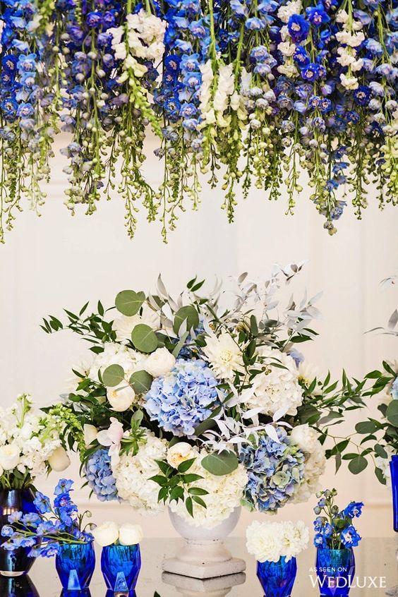 صور ثيمات زواج جديده باللون الازرق 2019 الراقية