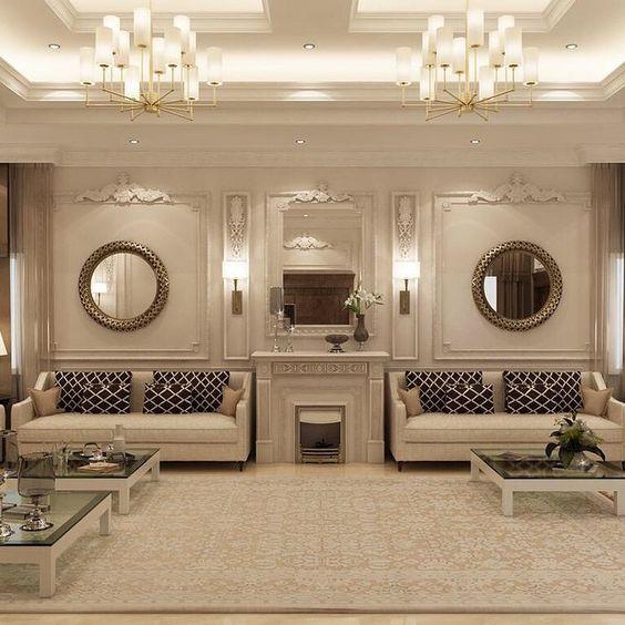 Neoclassical Living Room Interior