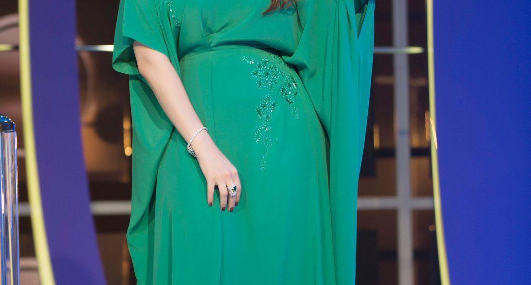 رؤى الصبان في فستان من Red Carpet Dubai