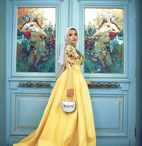 فستان اصفر 2019