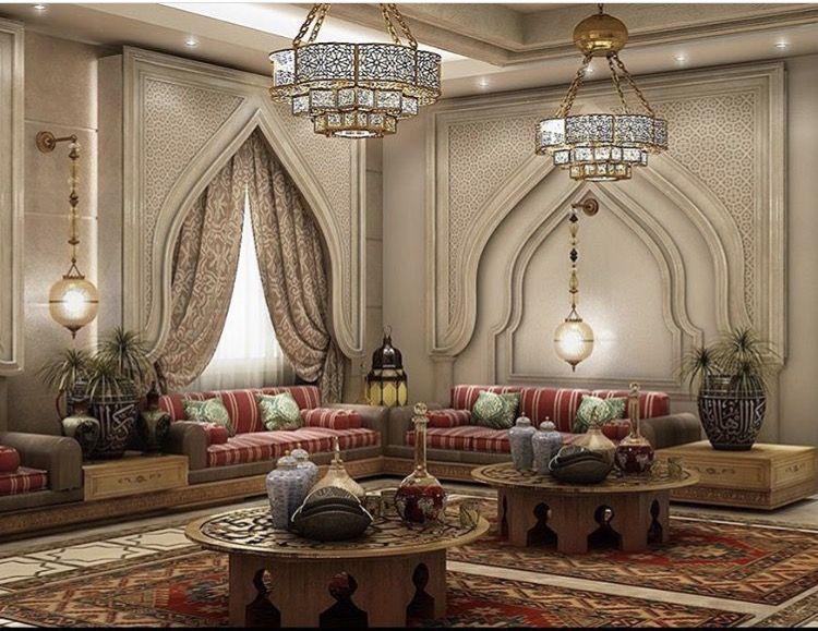 أجمل التصميمات المغربية في ديكور المجالس