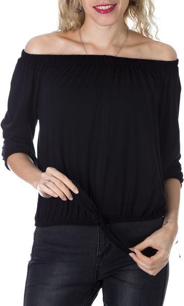 أجمل تصميمات البلوزات الاوف شولدر باللون الأسود