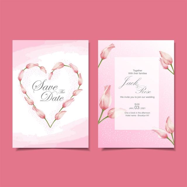 أجمل ثيمات العرس الوردية المزينة بزهور التوليب