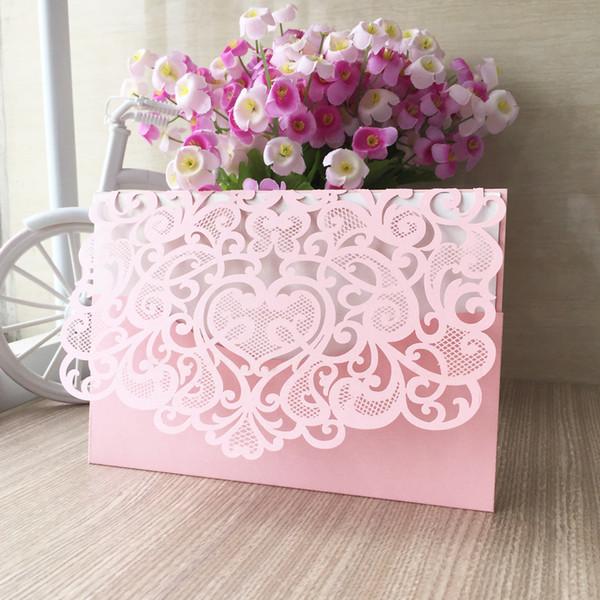 أجمل كروت دعوات الأفراح من اللون الوردي