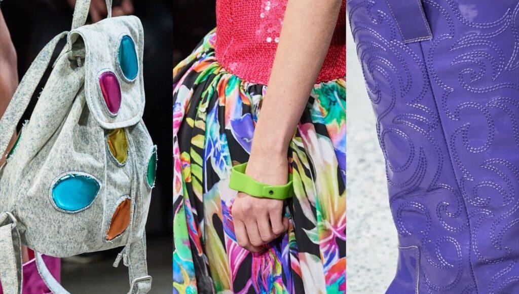 الألوان اللامعه ظهرت بقوة خلال عرض ازياء جيريمي سكوت لربيع 2020