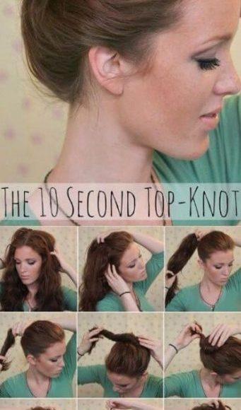 تصفيفة عقدة الشعر في عشر ثواني