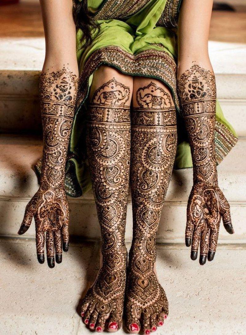 نقوش حناء هندية وإماراتية