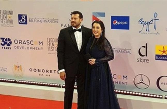 ظهور مميز للنجمة السورية كندا علوش مع زوجها النجم المصري عمرو يوسف خلال مهرجان الجونة لعام 2019