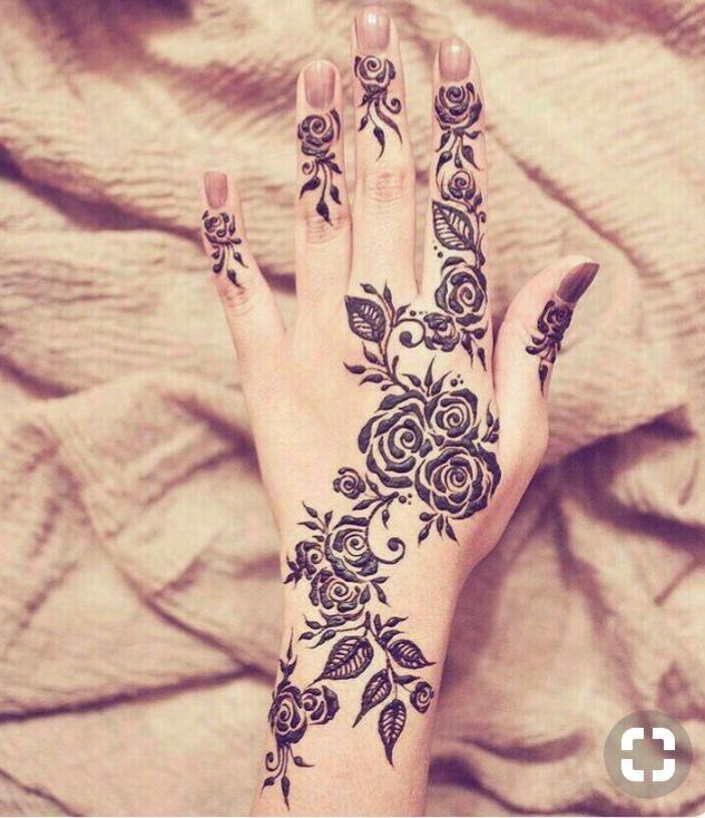 نقش حناء ناعم ورقيق Henna Design Youtube