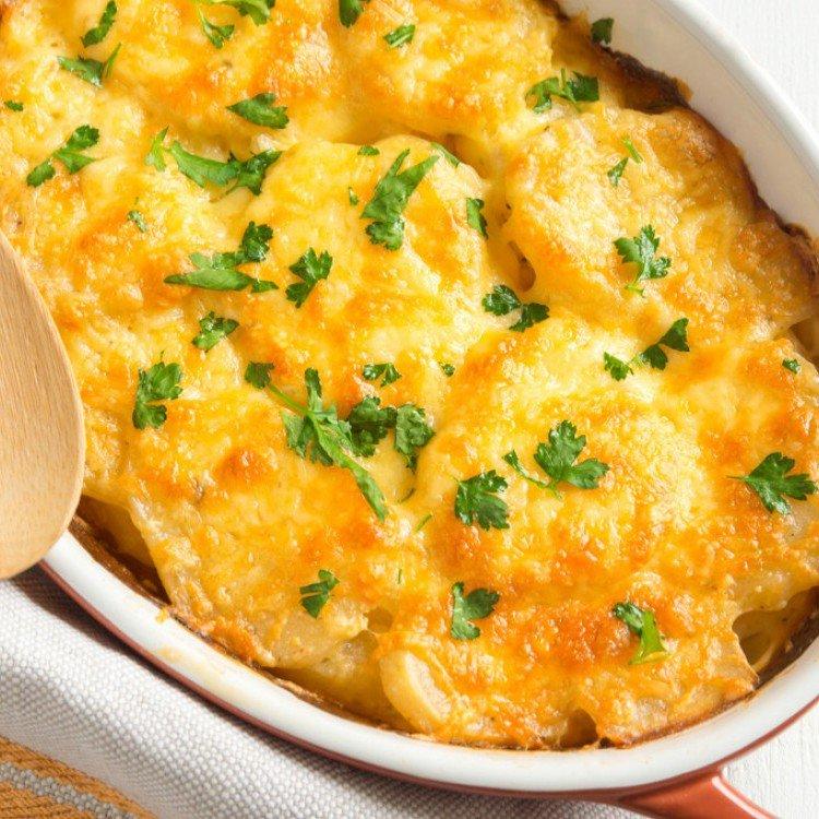 وصفة البطاطس المهروسة في الفرن مع الجبنه