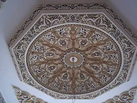 تصميمات جبسية ذات طابع إسلامي للمجالس