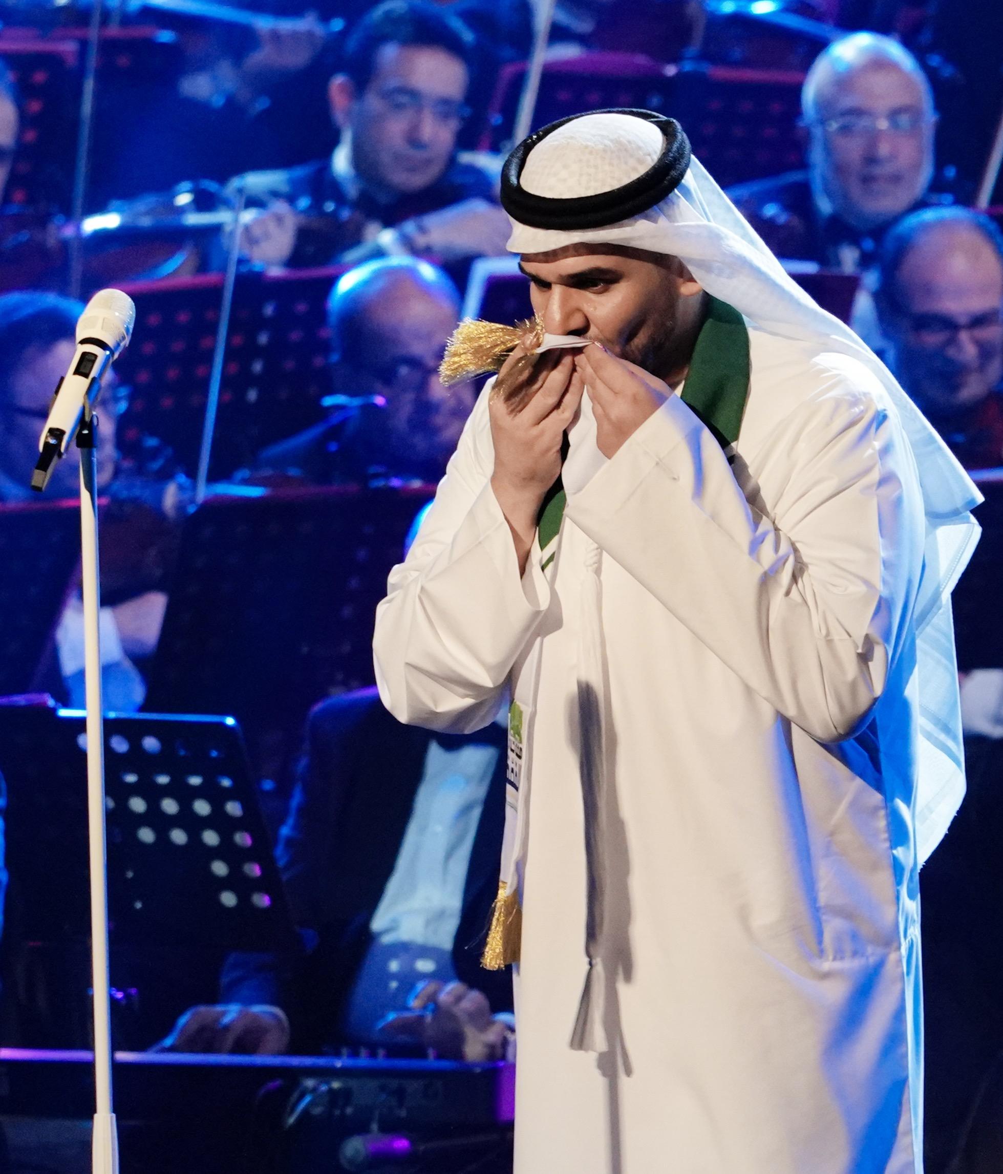 حسين الجسمي يحتفل باليوم الوطني السعودي الـ89
