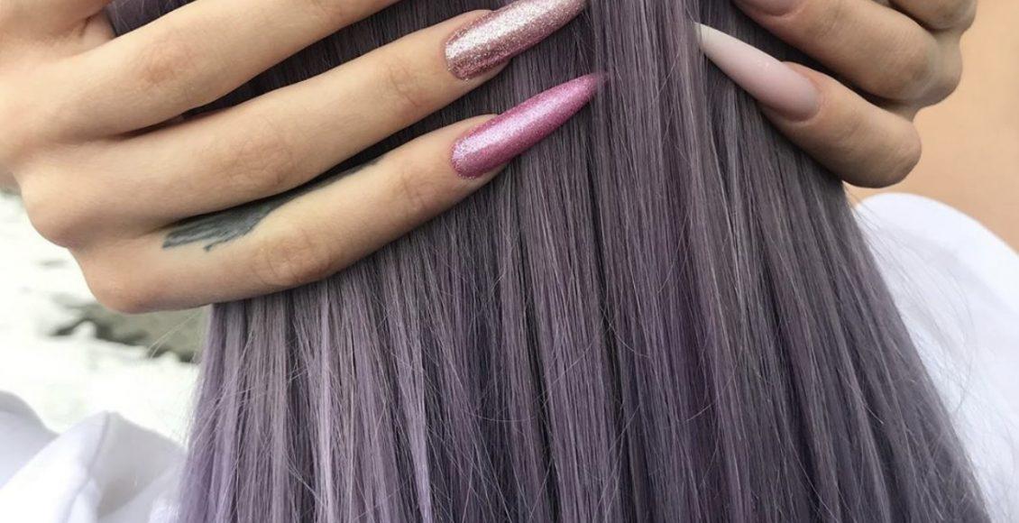 صبغة لون شعر رمادي داكن لصاحبات البشرة السمراء