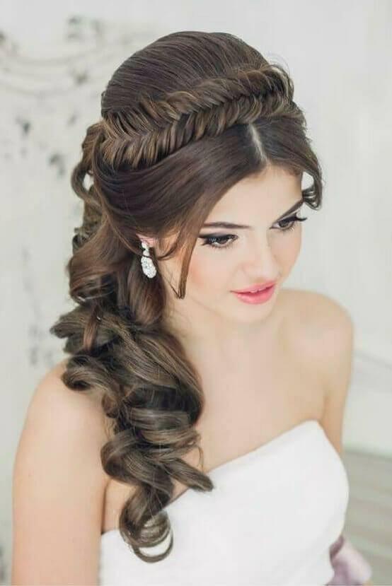 أجمل تسريحات العروس ذات الشعر الطويل موضة 2019