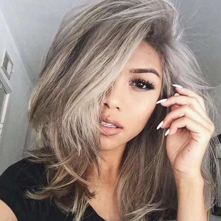أجمل صبغات الشعر من اللون الرمادي