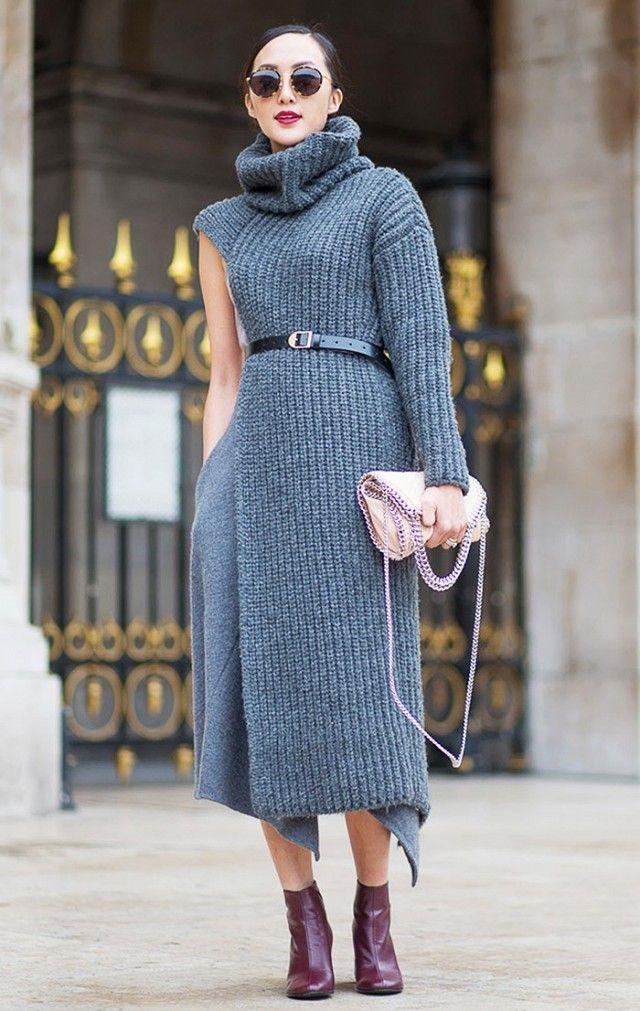 أحدث أشكال الفستان الصوف