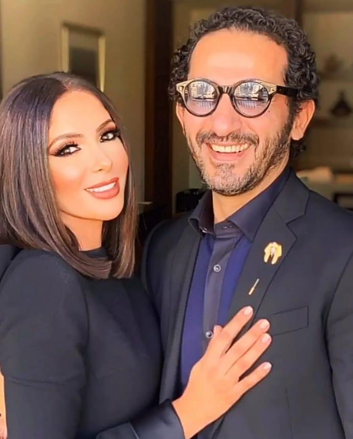أحدث ظهور للنجمين أحمد حلمي ومنى زكي
