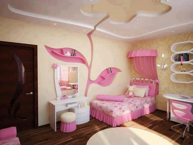 أشكال مميزة لأسقف غرف نوم الأطفال