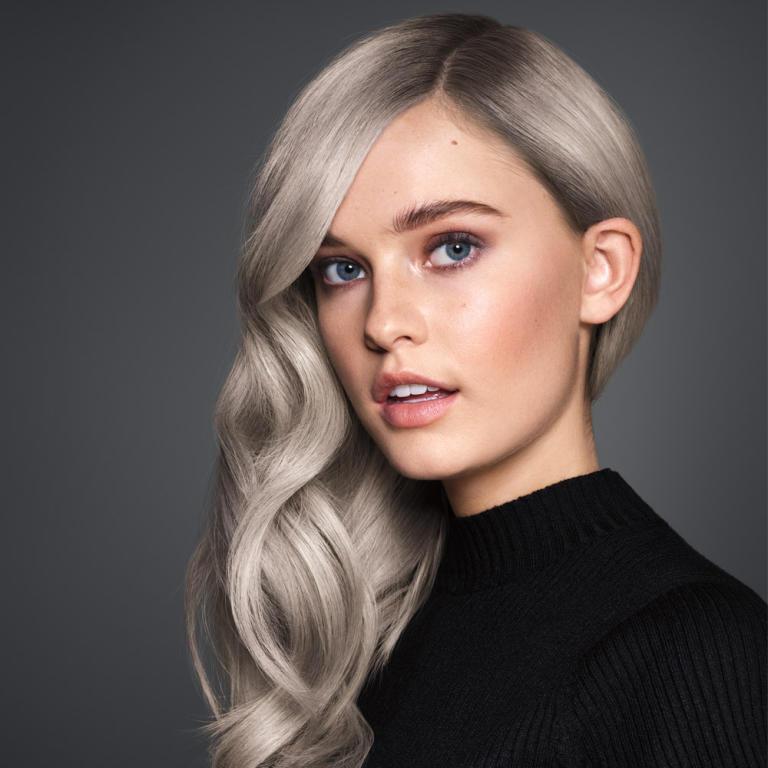 أشكال مميزة لصبغات الشعر الرمادية اللون