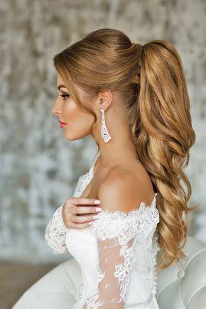 الأناقة المطلقة تميز تسريحات شعر العروس الطويل