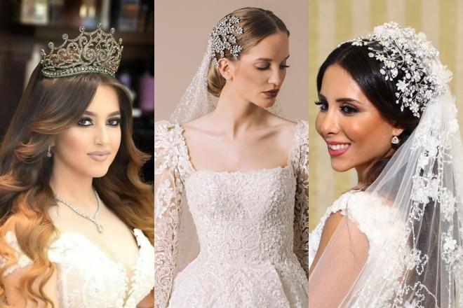 الإكسسوارات الفخمة تُضفي طابعًا مميزًا على تسريحات العرائس