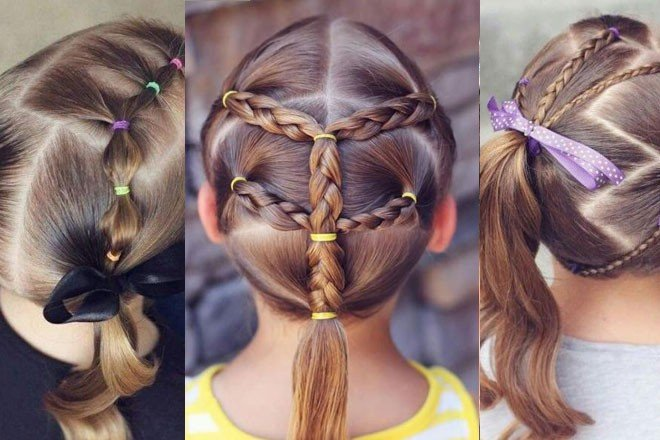 الضفائر الصغيرة تُزين شعر البنات الصغار