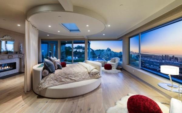 الطابع الأنيق يطغى على تصميمات غرف النوم الدائرية