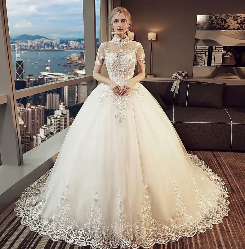 الطابع الرقيق يميز فساتين زفاف 2020