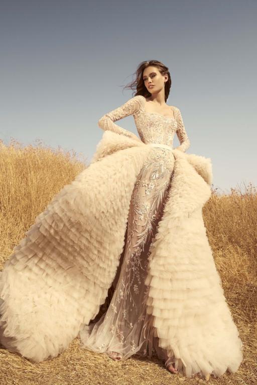 الطابع الفخم يميز فساتين زفاف 2020 بتوقيع المصمم اللبناني زهير مراد