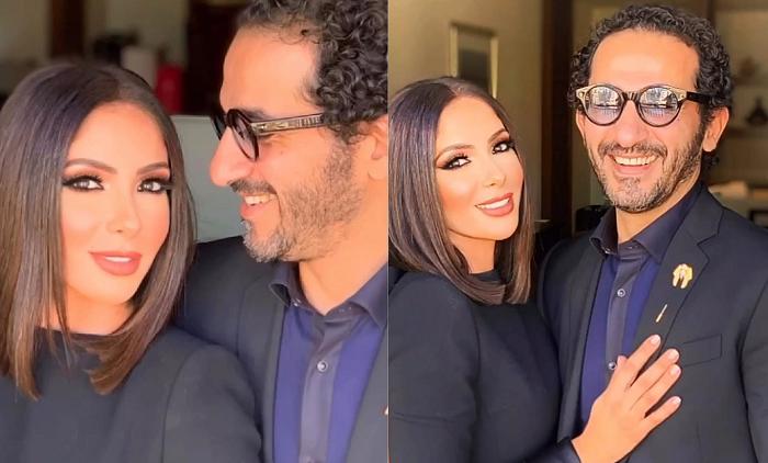 بعد تكريمهما أحمد حلمي ومنى زكي في جلسة تصوير يمكن وصفها بالرومانسية