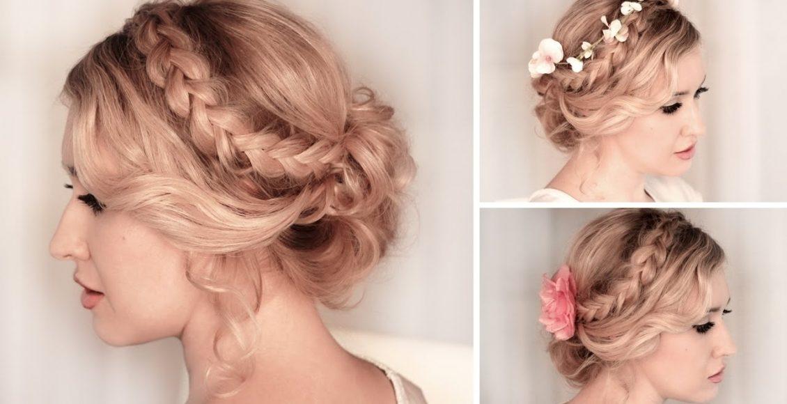 صور وأشكال تسريحات شعر عرائس ملائمة لصاحبات الشعر الخفيف