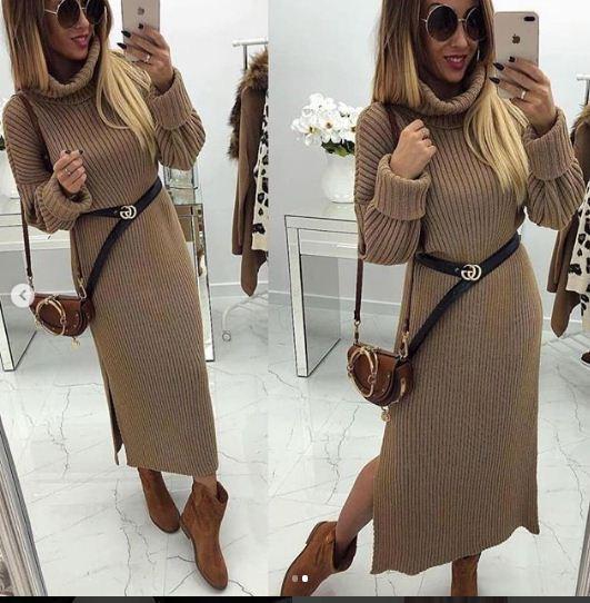 تصاميم مميزة لفساتين الصوف الطويلة
