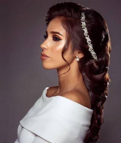 تصفيفة شعر مميزة لعروس 2019