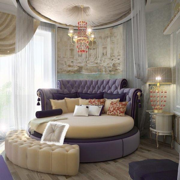 تصميمات مميزة لغرف النوم دائرية الشكل