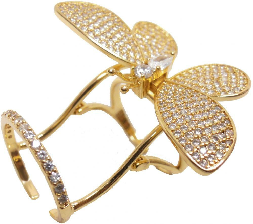 تصميمات مميزة للخواتم الذهبية على شكل فراشة