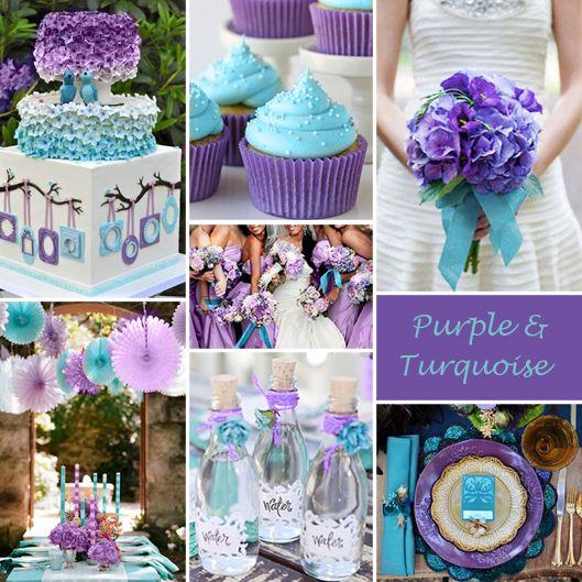 ثيمات زفاف باللون البنفسجي