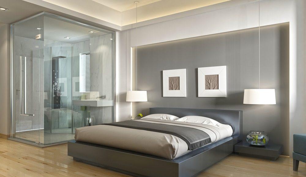 حمامات زجاج داخل غرف النوم