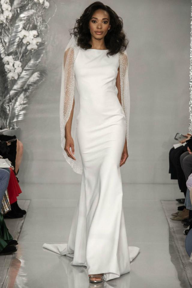 خامة الستان لفستان زفاف موضة 2020