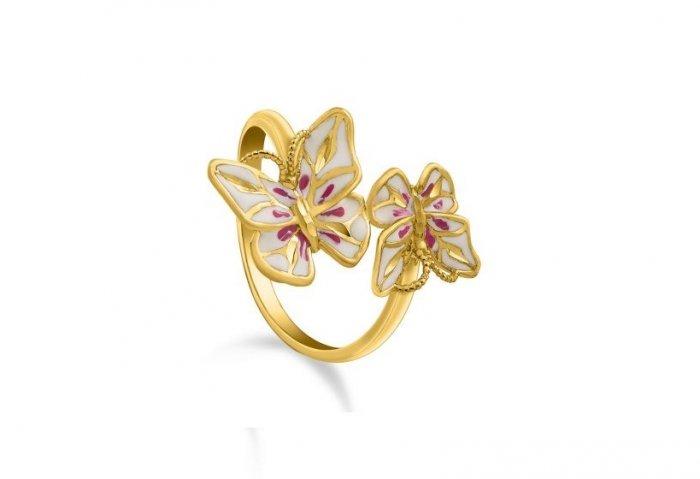 داماس تُبدع في تصميمات خواتم الذهب على شكل فراشة