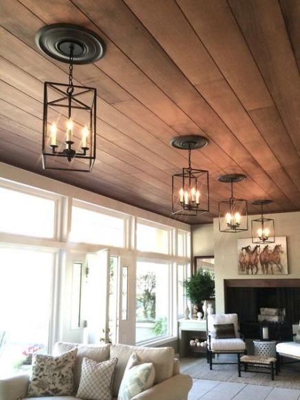 ديكورات صالون اسقف خشب