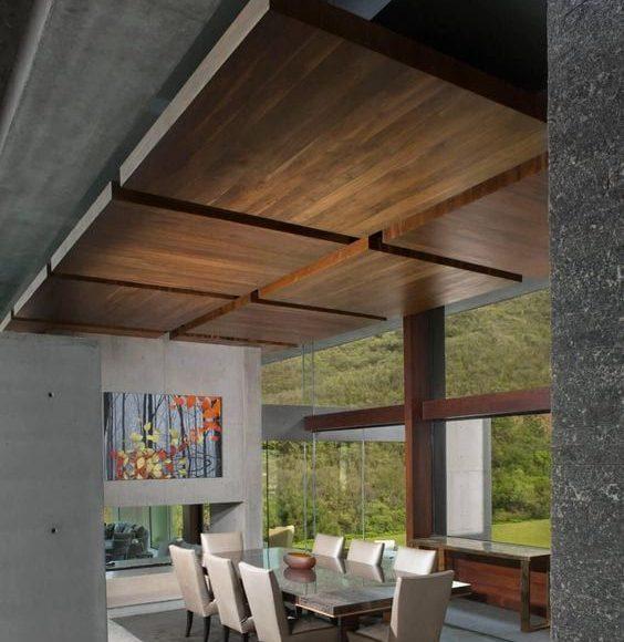 اسقف الخشب المودرن