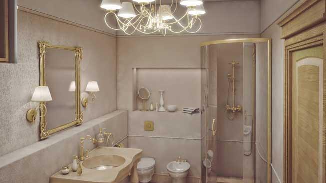 ديكور حمام مميز على الطابع الأوروبي