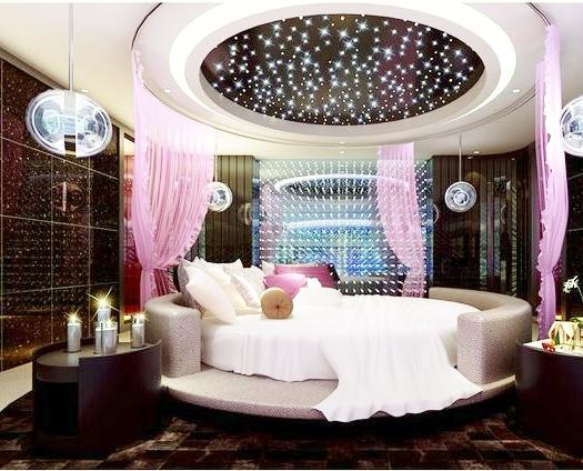 ديكور مميز جبسي لغرف النوم الدائرية