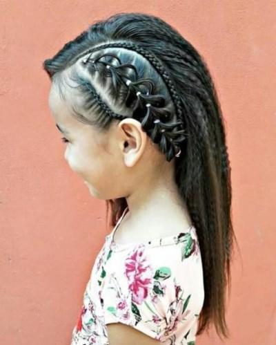 شكل تسريحة شعر للفتيات فريدة من نوعها