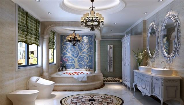 شكل حمام أوروبي التصميم