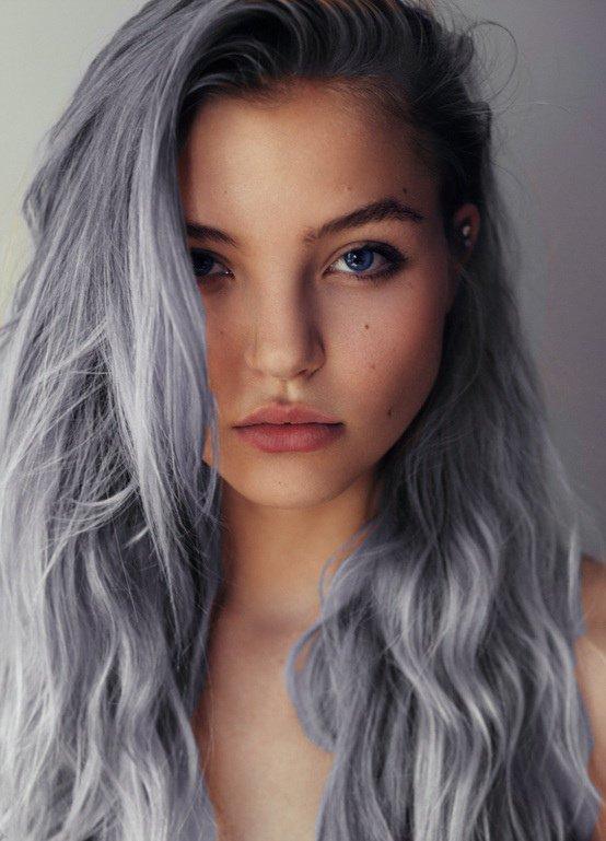 صبغات الشعر المميزة من درجات اللون الرمادي
