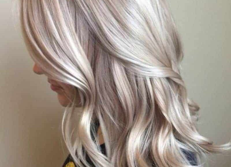 لون صبغة شعر رمادي أشقر