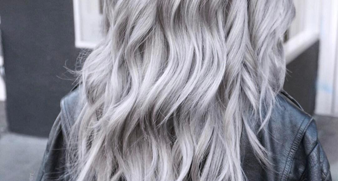 صور صبغة شعر رمادي أشقر