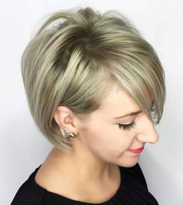 صور مختلفة لتسريحات الشعر الخفيف من الأمام