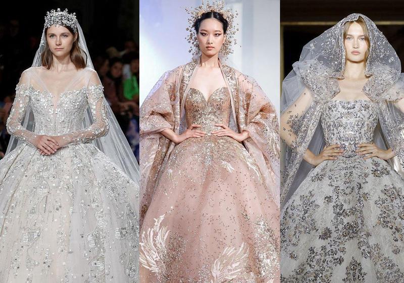 فساتين زفاف أسطورية لبنانية التصميم